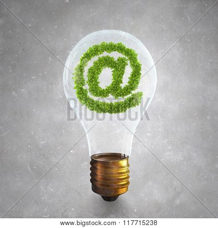 Green email symbol