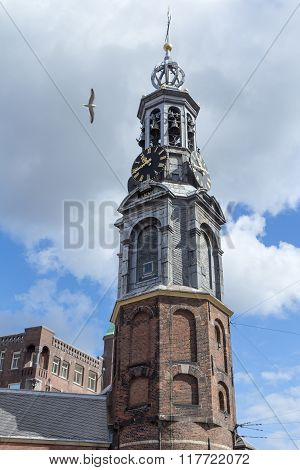 Munt Tower In Amsterdam