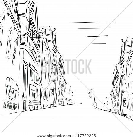 Background The City Of Sketch Art