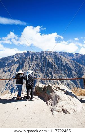 Tourists in Colca canyon, Peru