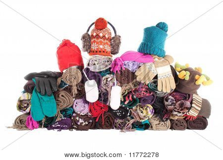 Heap Of Winter Accessories | Isolated
