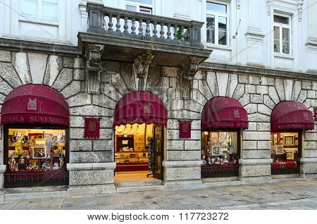 Souvenir Shop In The Old Town Of Kotor, Montenegro