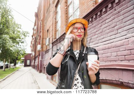 Attractive tourist see city