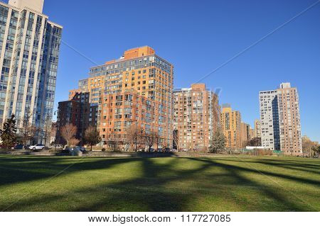Residential District In Roosevelt Island.