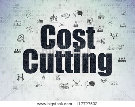 Business concept: Cost Cutting on Digital Paper background