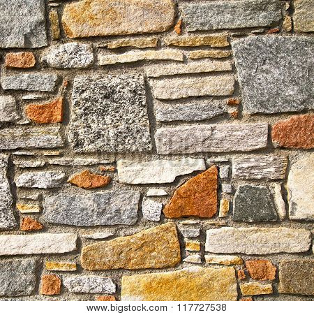 Brick In Casorate   Lombardy Italy  Varese Abstract    Of A Curch And Marble