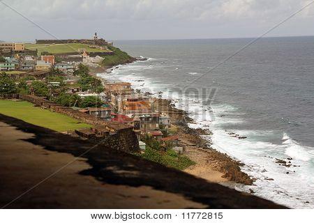 View from Castillo San Cristobal towards El Morro 2