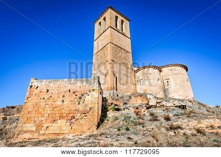 Segovia Spain. 12-sided church of Vera Cruz built by Knights Templar in 13th century.