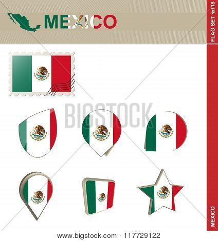 Mexico Flag Set, Flag Set #118