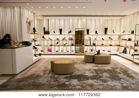 HONG KONG - JANUARY 26, 2016: interior of the store at Elements Shopping Mall. Elements is a large shopping mall located on 1 Austin Road West, Tsim Sha Tsui, Kowloon, Hong Kong
