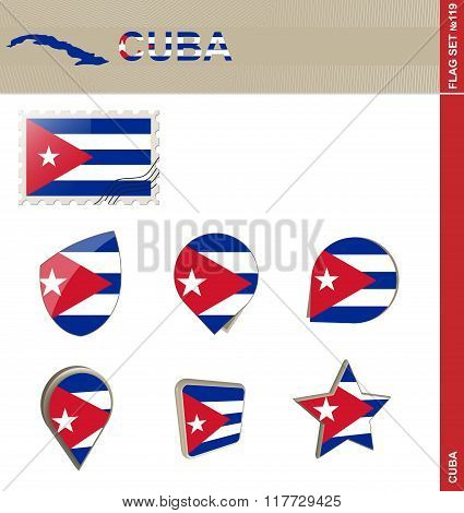 Cuba Flag Set, Flag Set #119