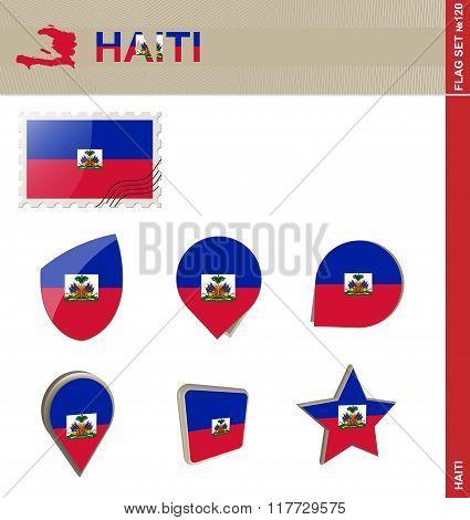 Haiti Flag Set, Flag Set #120