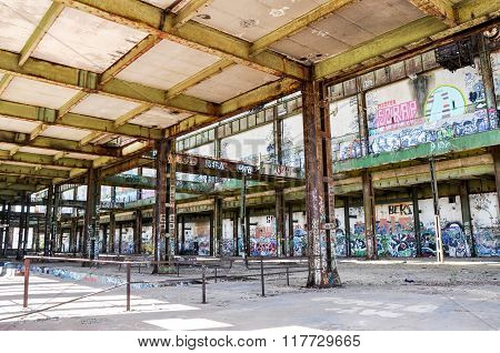 Steel Beams: Vacant Old Power House