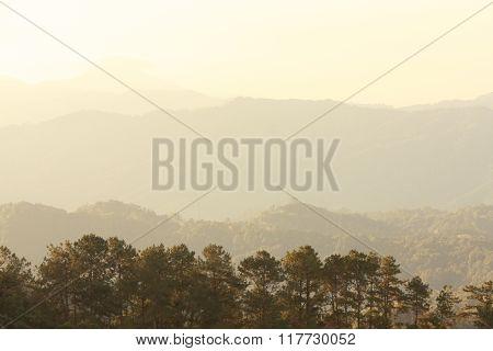 huai num dang mountains then sunrise