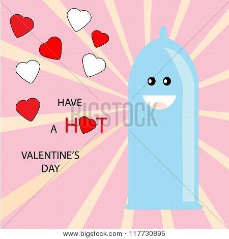 Valentine Condom Card