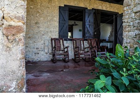 Porch And Green Plants