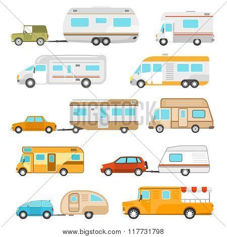 Recreational Vehicle Icons Set