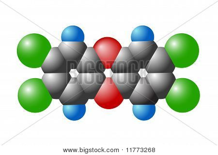 Molecule Of Dioxin