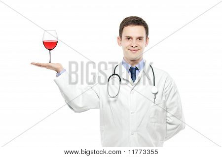 A Medical Doctor Holding A Wine Glass