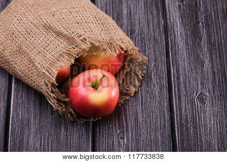 Sackcloth Bag With Apples