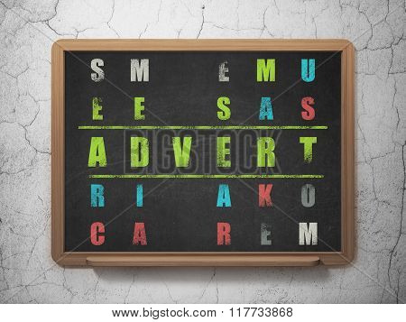 Marketing concept: Advert in Crossword Puzzle
