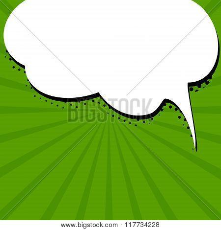Speech bubble on green background