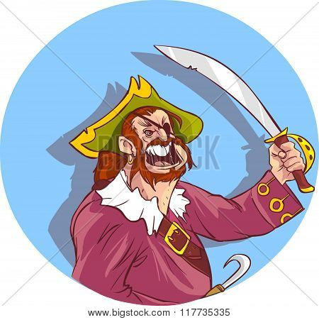 Vector Illustration Of A Pirates