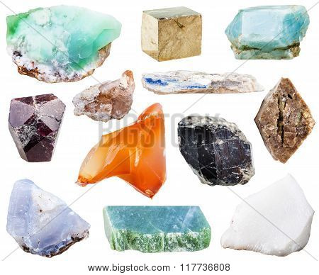 Collection Of Natural Mineral Crystal Gemstones