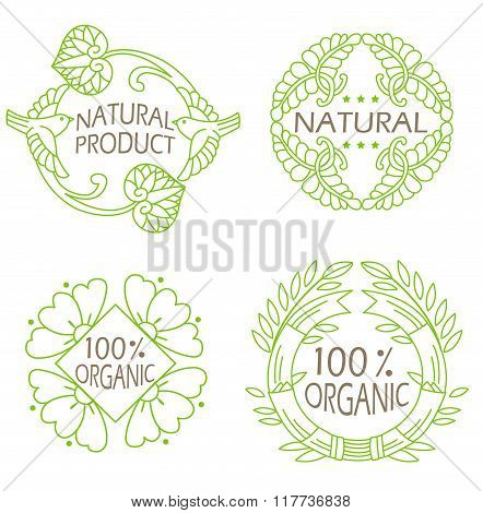 Organic Natural. Eco Vintage Icons. Icons Set. Icons With Text. Natural. Eco. Herbal. Eco Food. Food Organics. Eco Food Containers. Eco Food Pack. Natural Product. Food Recipes. Eco Logo. Leaves.