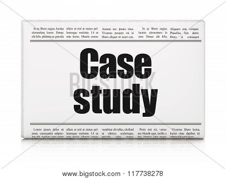 Studying concept: newspaper headline Case Study
