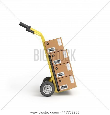 Two-wheeled Trolley With Drawers
