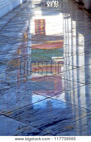 Abstract  Reflex In      Asia  Bangkok Thailand         The    Temple