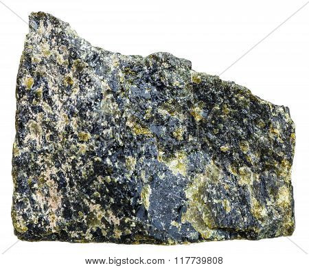 Diopside Crystalline Rock Isolated On White