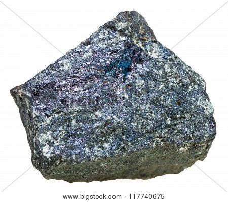 Specimen Of Bornite (peacock Ore) Stone Isolated