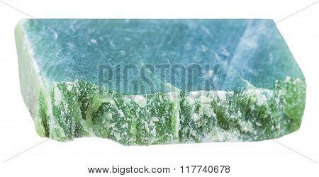 Green Nephrite Gem Stone Isolated