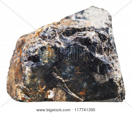 Black Flint (chert) Steone Isolated On White