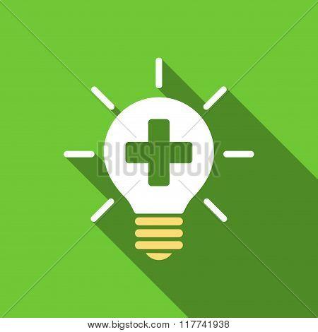 Medical Lamp Flat Long Shadow Square Icon