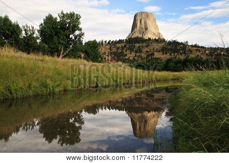 Devils Tower Reflection