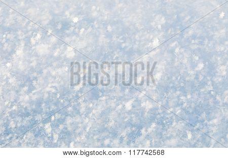 fresh white snow, macro shot