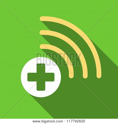 Medical Source Flat Long Shadow Square Icon