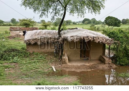 Indian Hut By The Roadside.