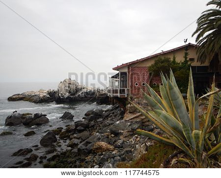 Pacific Coast At Valparaiso In Chile