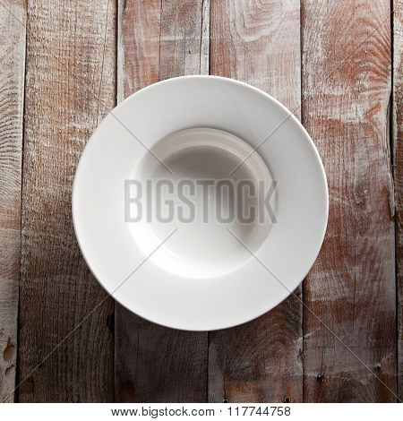 Empry White Plate