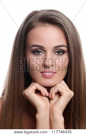 Beauty. Woman with cute face