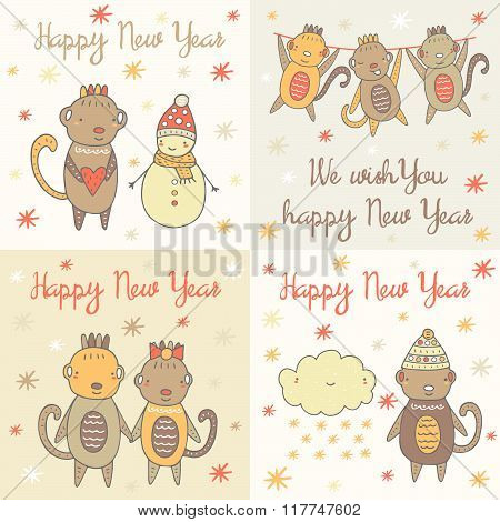 Postcards with monkeys