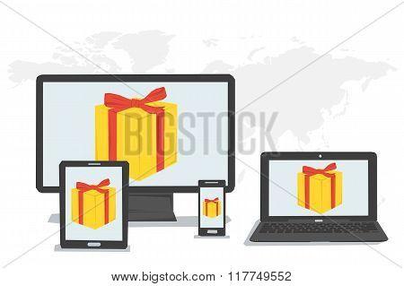 Gift Boxes, Bonus On Monitors
