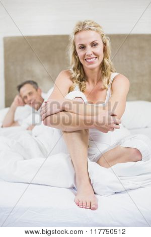 Cute couple resting in their room
