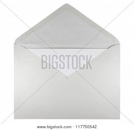 Blank Open Envelope - White