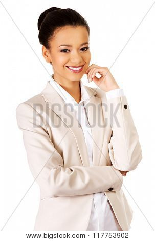 Beautiful smiling businesswoman.