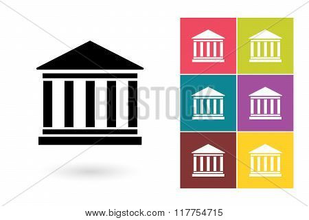 Bank vector icon or bank symbol